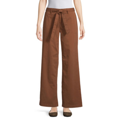 St. John's Bay Womens Mid Rise Straight Flat Front Pant