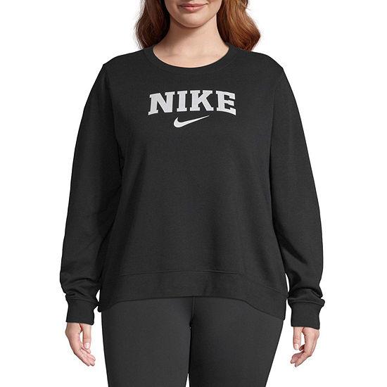 Nike Womens Round Neck Long Sleeve Hoodie Plus