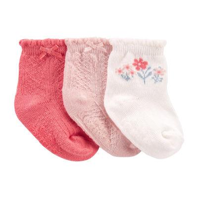 Carter's Little Baby Basics Baby Girls 3 Pair Baby Booties