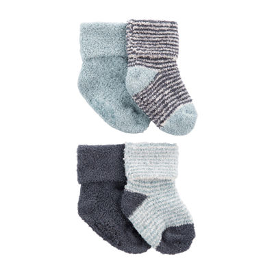 Carter's Little Baby Basics Baby Boys 4 Pair Baby Booties