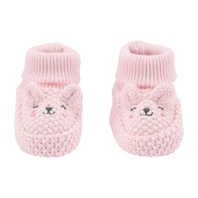 Carter's Little Baby Basics Baby Girls 1 Pair Baby Booties