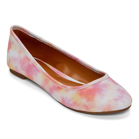 60s Shoes, Go Go Boots Arizona Womens Meek Ballet Flats 8 12 Medium Pink $19.00 AT vintagedancer.com