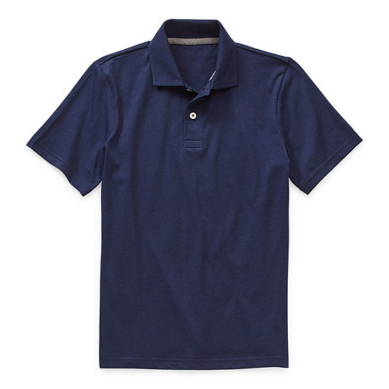 Thereabouts Jersey Little & Big Boys Short Sleeve Polo Shirt