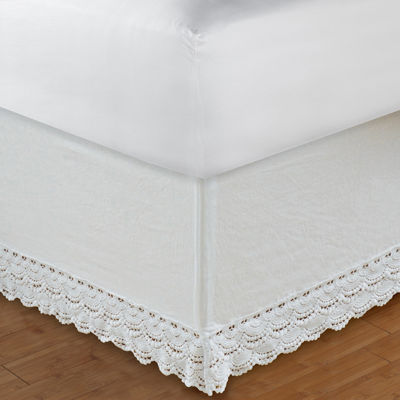 Greenland Home Fashions Crochet Lace Bedskirt