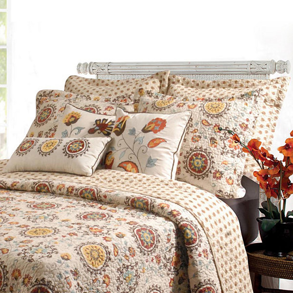Greenland Home Fashions Andorra Medallion Quilt Set