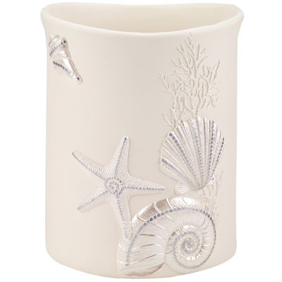 Avanti Sequin Shell Wastebasket