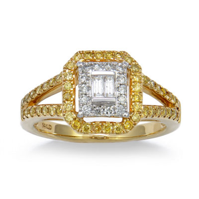 LIMITED QUANTITIES! Womens 1/2 CT. T.W. Yellow Diamond 14K Gold Cocktail Ring