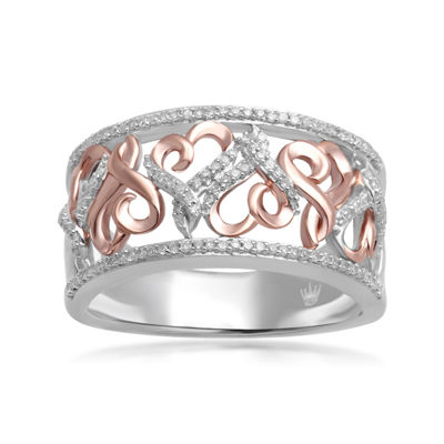 Hallmark Diamonds 1/4 CT.T.W. Diamond Sterling Silver With 14K Rose Gold Accent Ring