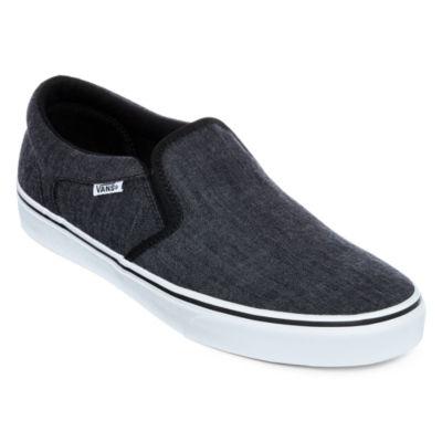 Vans® Asher Distressed Mens Athletic Slip-On Skate Shoes