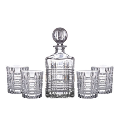 Portland 5-pc. Faceted Crystal Barware Set