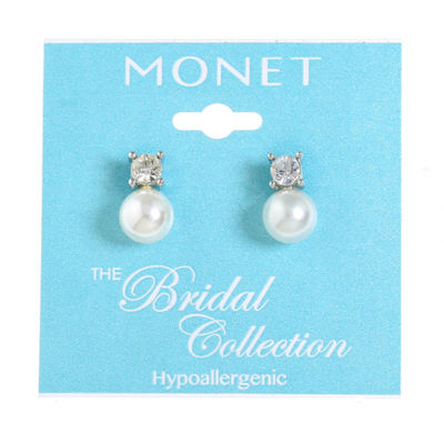 Monet Jewelry The Bridal Collection SIMULATED PEARLS 15mm Stud Earrings