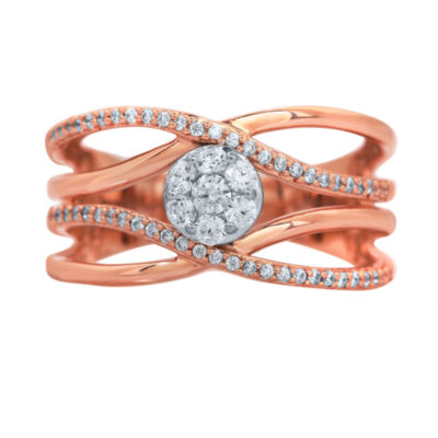 LIMITED QUANTITIES! Womens 1/2 CT. T.W. White Diamond 14K Gold Cocktail Ring
