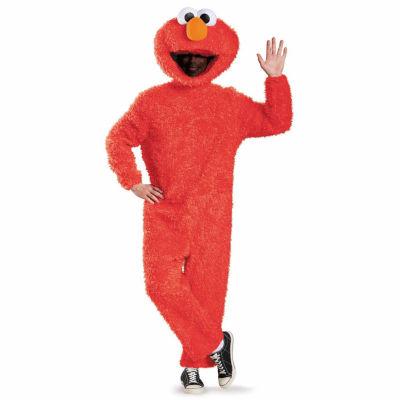 Sesame Street Elmo Plush Prestige Costume For Adults