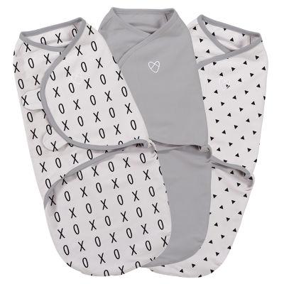 SwaddleMe 3-pk. Blanket - Grey XO