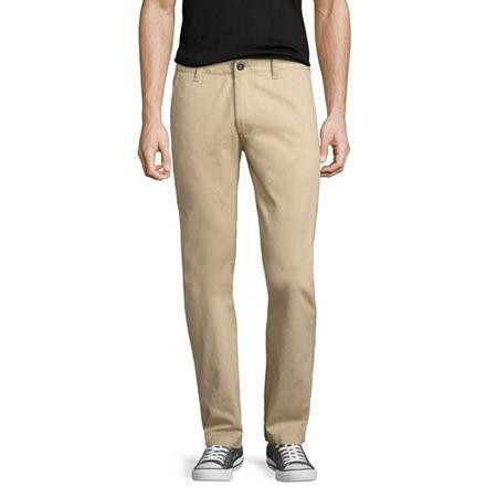 Arizona Flex Mens Slim Fit Pant, 29 29, Brown