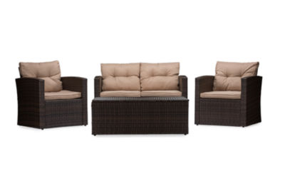 Baxton Studio Imperia Patio Lounge Set