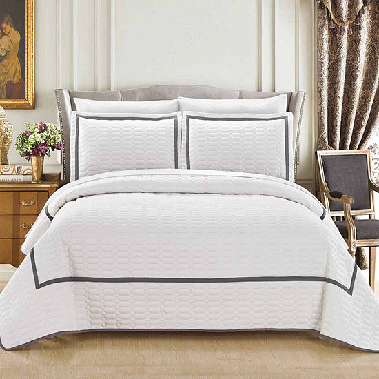 Chic Home Birmingham 7-pc. Embroidered Quilt Set