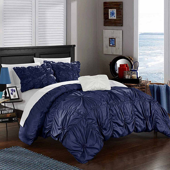 Chic Home Hamilton 4-pc. Embroidered Duvet Cover Set
