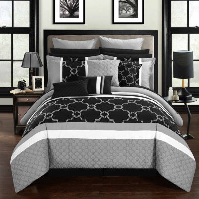 Chic Home Camilia 16-pc. Midweight Embroidered Comforter Set