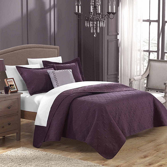 Chic Home Barcelo Embroidered Quilt Set