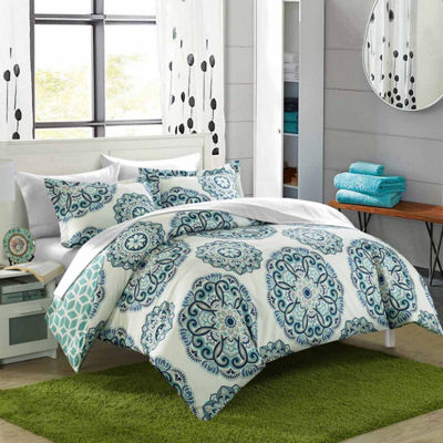 Chic Home Ibiza 7-pc. Reversible Duvet Cover Set