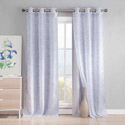 Kensie Leone 2-Pack Curtain Panel