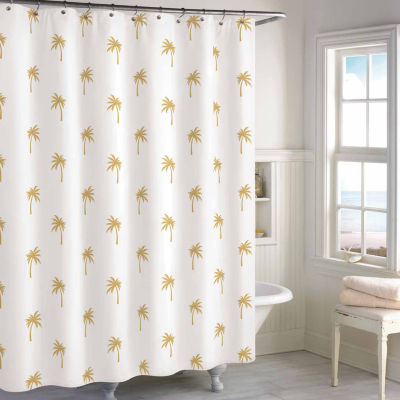 Destinations Golden Palm Shower Curtain