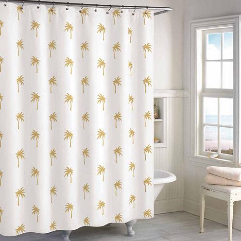 Destinations Golden Palm Shower Curtain