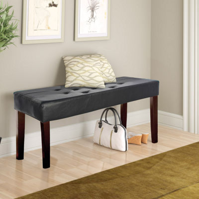 Corliving Fresno 12 Panel Tufted Bench