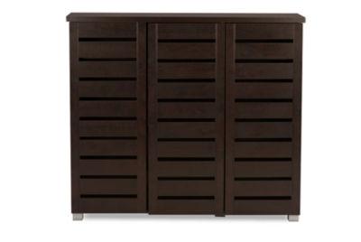 Baxton Studio Adalwin 3-Door Accent Cabinet