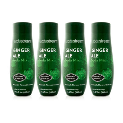 SodaStream 440 ml Fountain Style Sparkling Ginger Ale Drink Mix Case of 4