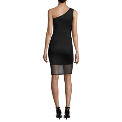 Belle + Sky Mesh One Shoulder Bodycon Dress