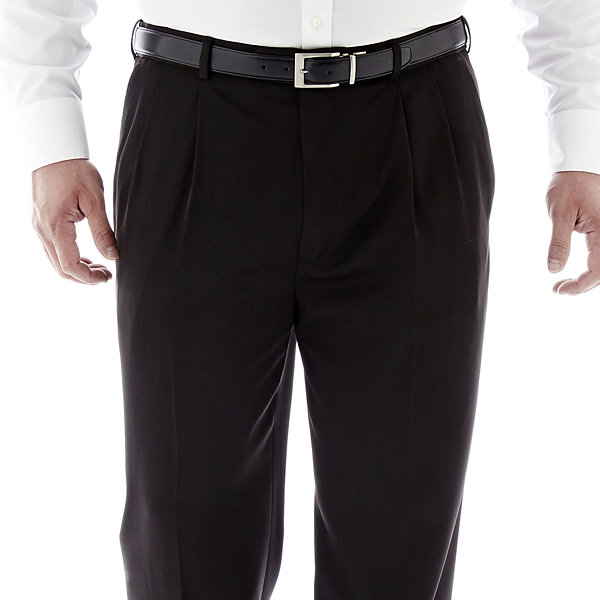 Stafford® Travel Endurance Pleated Pants–Big & Tall