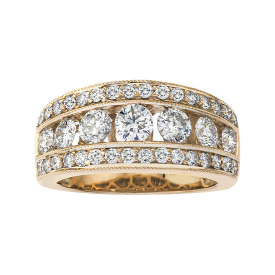 2 CT. T.W. Diamond 14K Yellow Gold Band