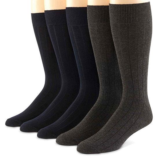 Dockers® 5-pk. Ribbed Men's Socks