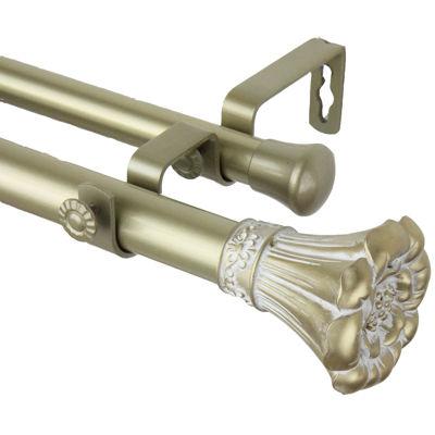 """Rod Desyne Blossom 1"""" Adjustable Double Curtain Rod"""