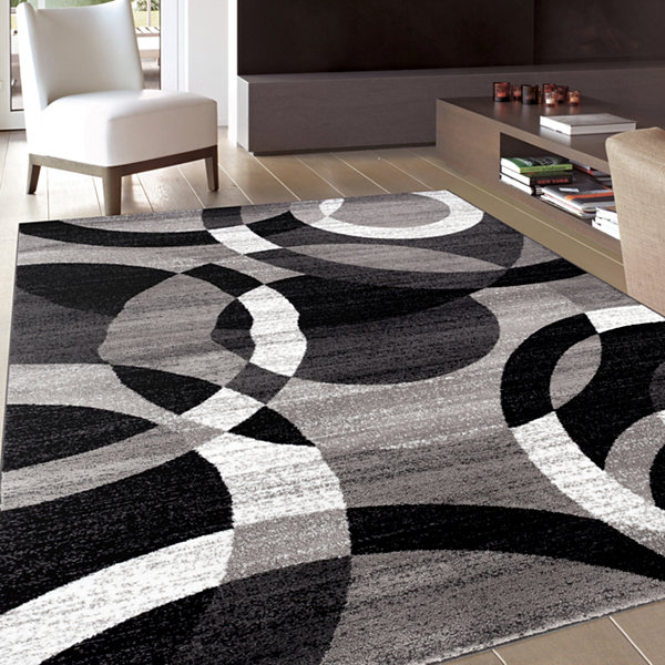 Alpine Rings Rectangular Rug
