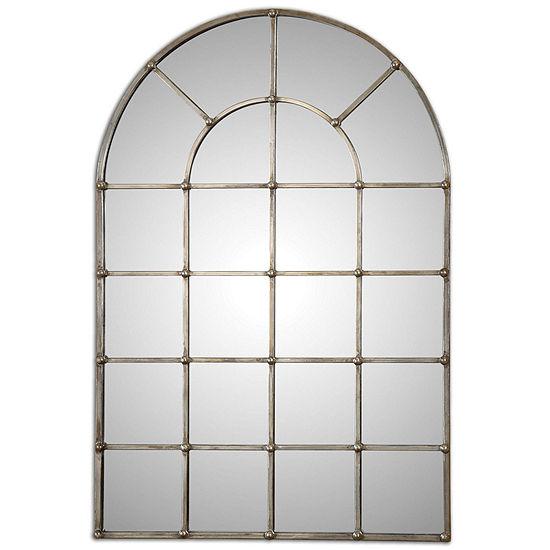 Barwell Arch Silver Metal Plated Mirror