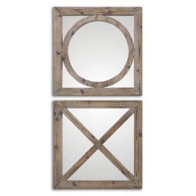 Baci E Abbracci Set of 2 Small Mirrors