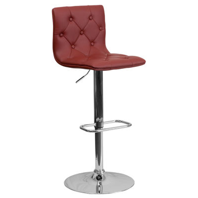Button Tuffted Contemporary Barstool