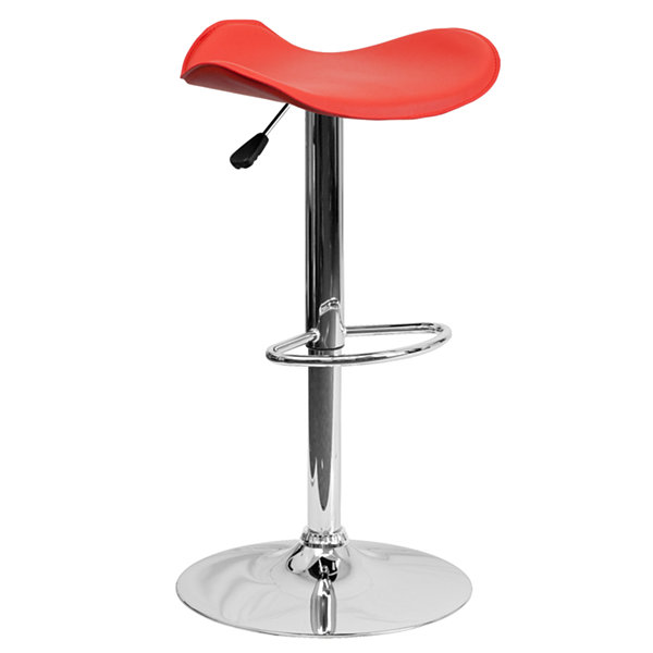 Curved Swivel Seat Contemporary Barstool
