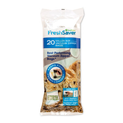 FoodSaver® Vacuum Zipper Gallon Bags, 20 Count