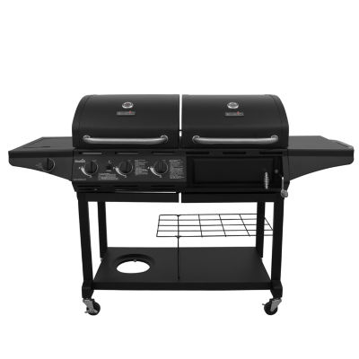 Char-Broil Charcoal & Gas Combo Grill with Lidded Side Burner