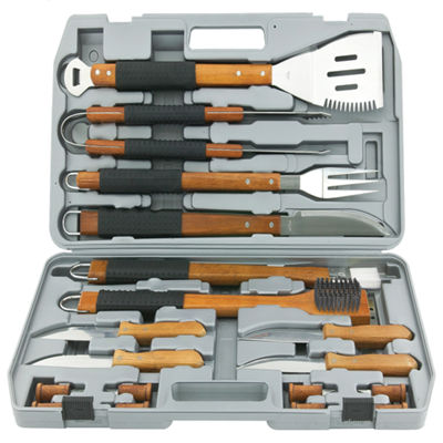 Mr. Bar.B.Q 18-pc. Gourmet Stainless Steel Tool Set