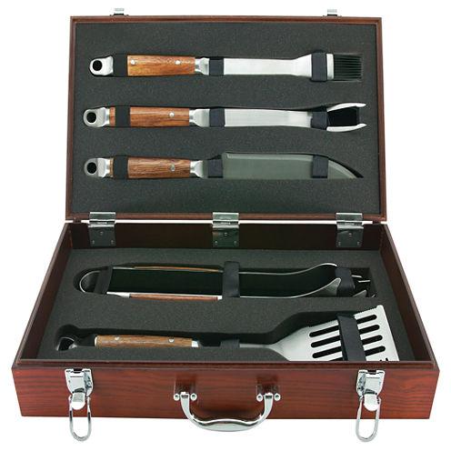 Mr. Bar B Q 5-pc. Tool Set with Hardwood Case