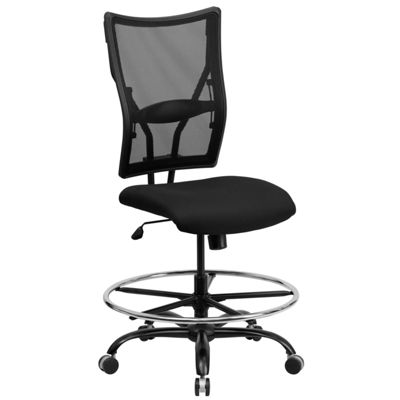HERCULES Series 400 lb. Capacity Big & Tall Mesh Drafting Chair