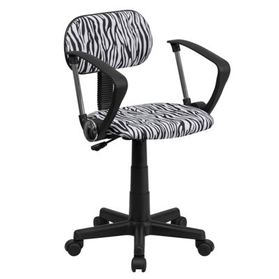 Printed Swivel Task Chair with Arms