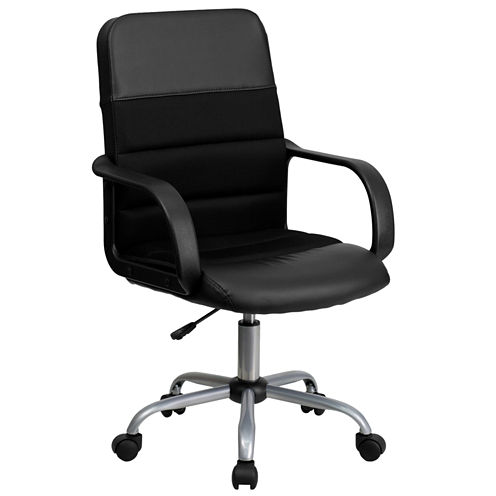 Leather Contemporary Task Office Chair