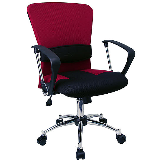 Mid Back Mesh Swivel Task Chair With Arms