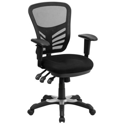 Mid-Back Mesh Multifunction Executive Swivel Chairwith Adjustable Arms